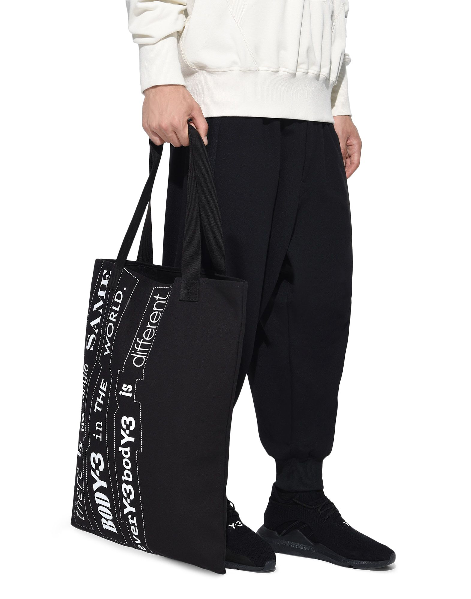 Y-3 Y-3 Slogan Tote Bag Medium fabric bag E a