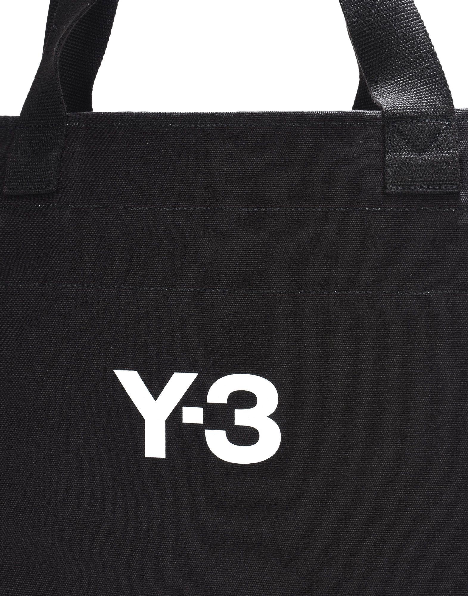 Y-3 Y-3 Slogan Tote Bag Sac moyens en tissu E e