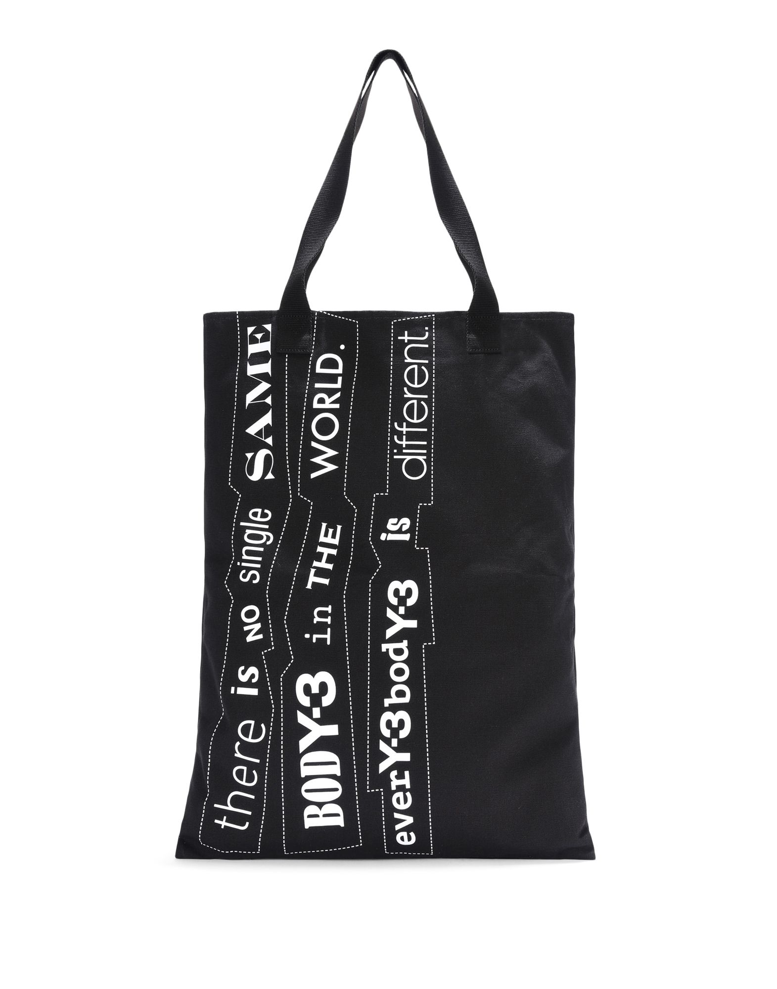 Y-3 Y-3 Slogan Tote Bag Medium fabric bag E f