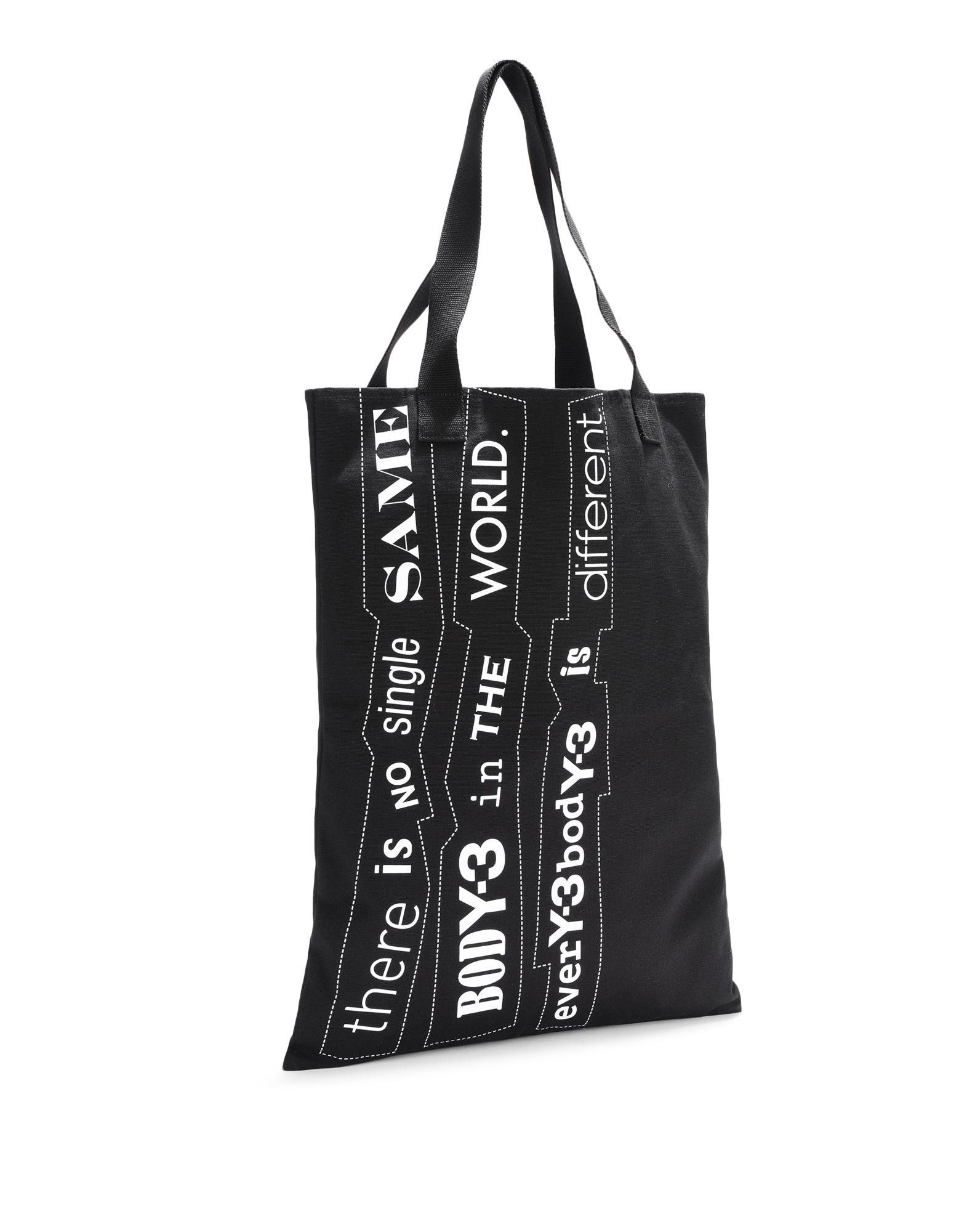 Y-3 Y-3 Slogan Tote Bag Sac moyens en tissu E r