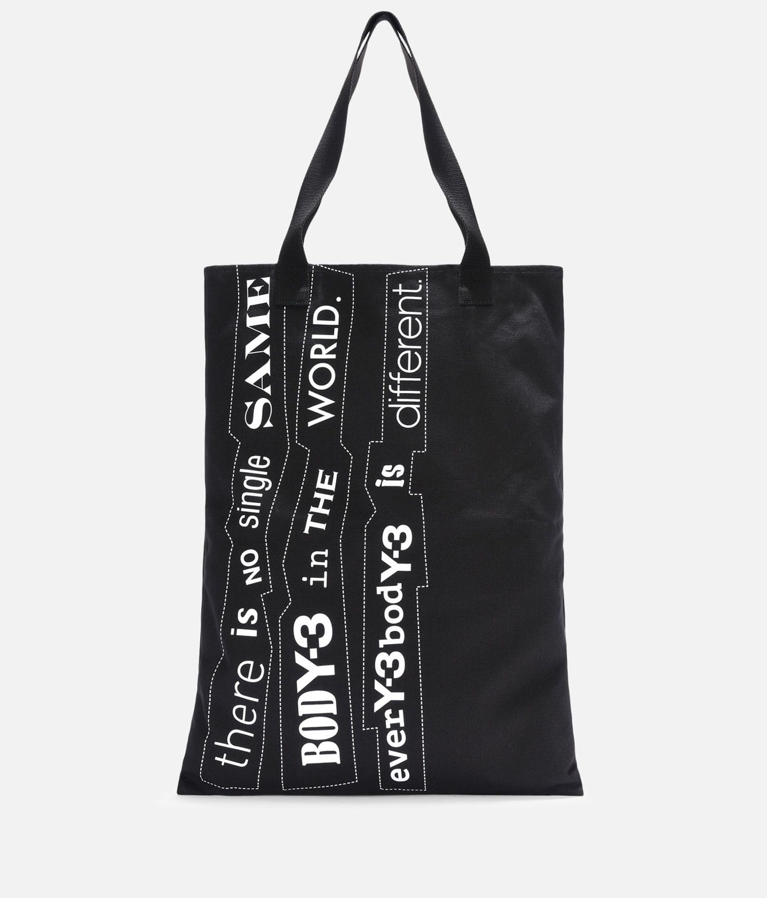 Y-3 Y-3 Slogan Tote Bag Borsa media in tessuto E f