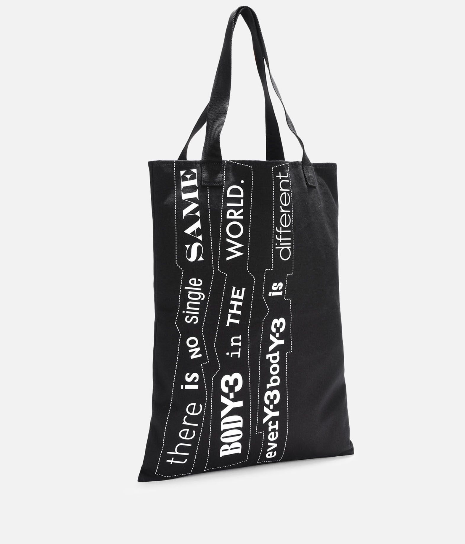 Y-3 Y-3 Slogan Tote Bag Borsa media in tessuto E r