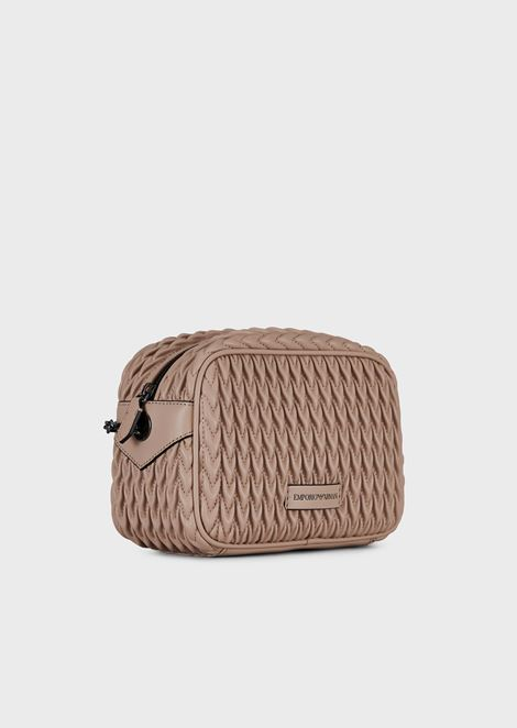 Quilted eco-nappa mini-bag with drop motif