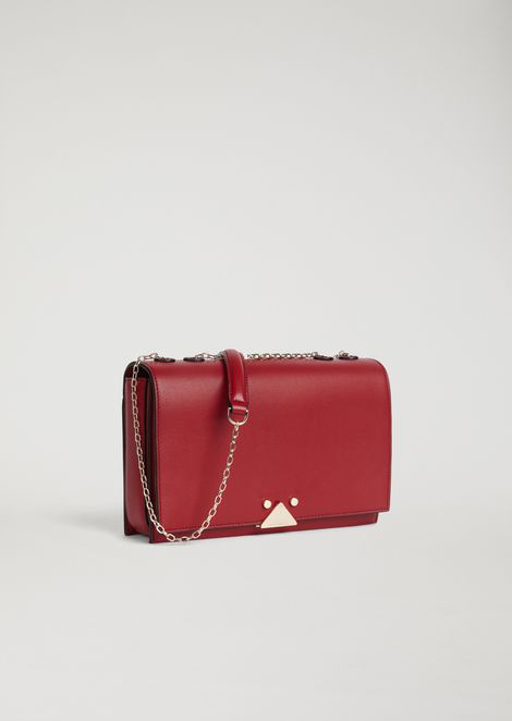 Smooth leather Crossbody bag with logo detail
