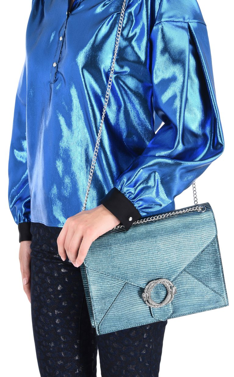 JUST CAVALLI Lamé-look shoulder bag Crossbody Bag Woman r