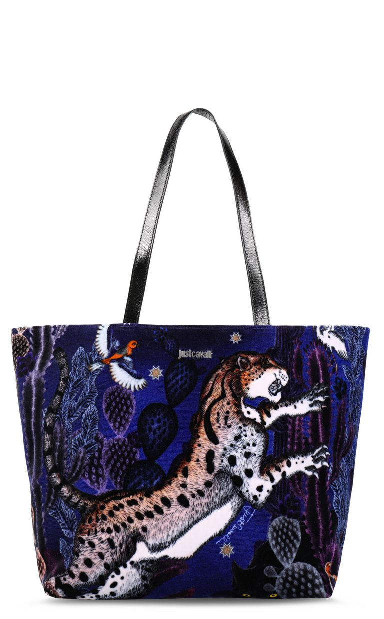 JUST CAVALLI Velvet-look shopper Tote [*** pickupInStoreShipping_info ***] f