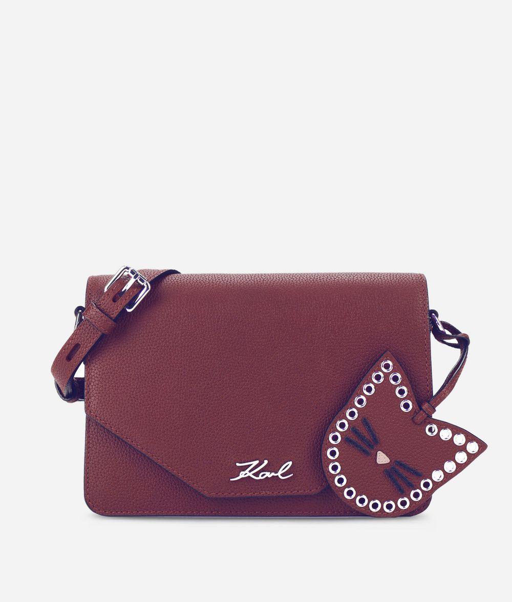 KARL LAGERFELD K/Karry All Leather Shoulder Bag Handbag Woman f