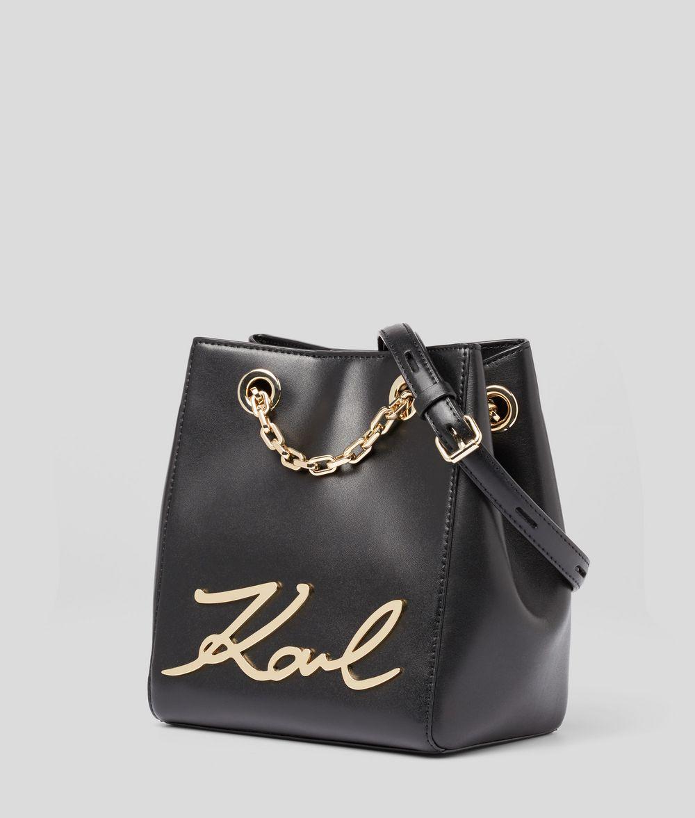 KARL LAGERFELD K/Signature Bucket Bag Drawstring bag Woman d