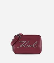 KARL LAGERFELD Kompakte K/Signature Tasche aus Leder 9_f