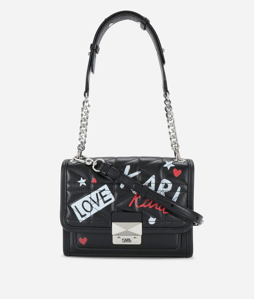 KARL LAGERFELD Karl X Kaia Graffiti Mini Shoulder Bag Handbag Woman f