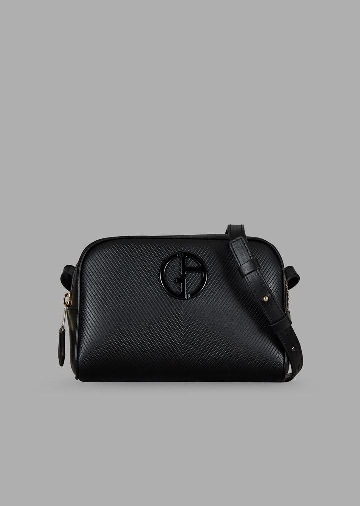 222cac185fa3 Chevron print leather shoulder bag with tone logo