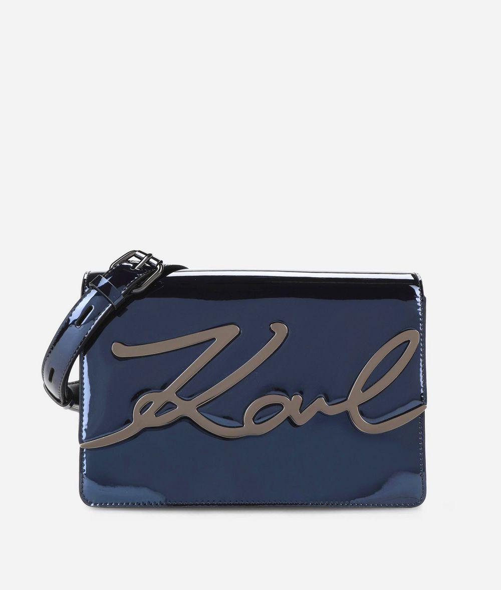 KARL LAGERFELD K/Signature Glossy Shoulder Bag Handbag Woman f