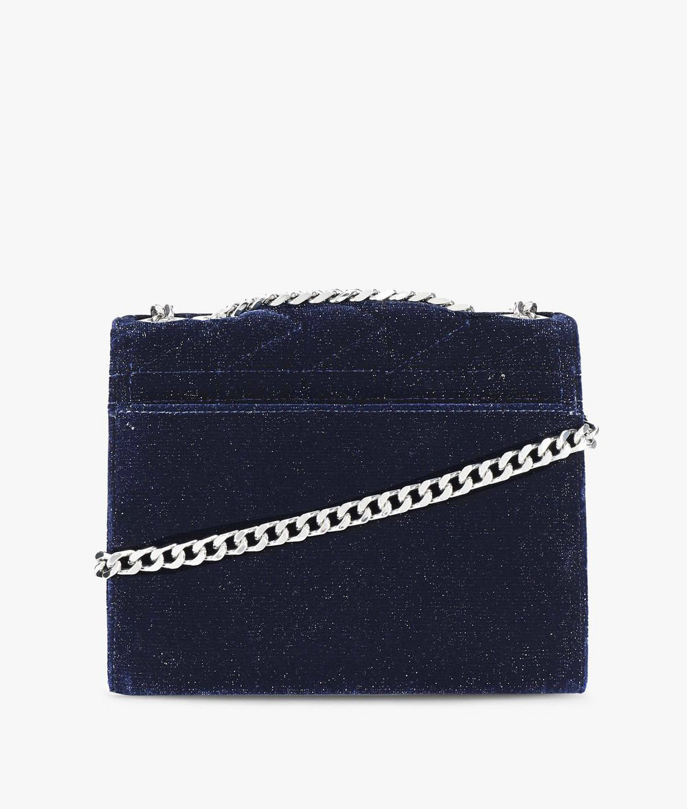 KARL LAGERFELD Karl X Kaia Glitter Velvet Handbag Handbag Woman d