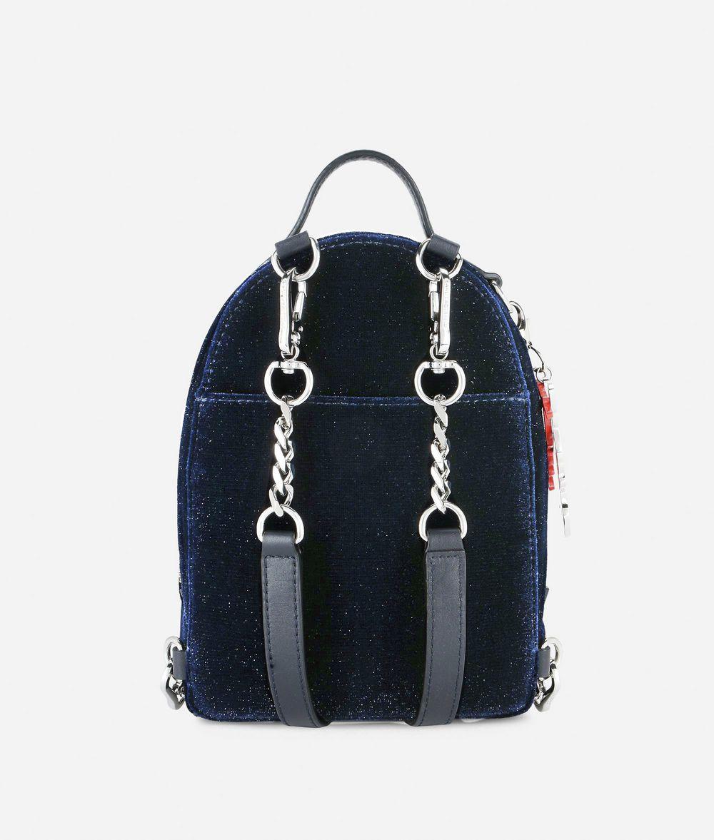 KARL LAGERFELD Karl X Kaia Glitter Velvet Mini Backpack Backpack Woman d
