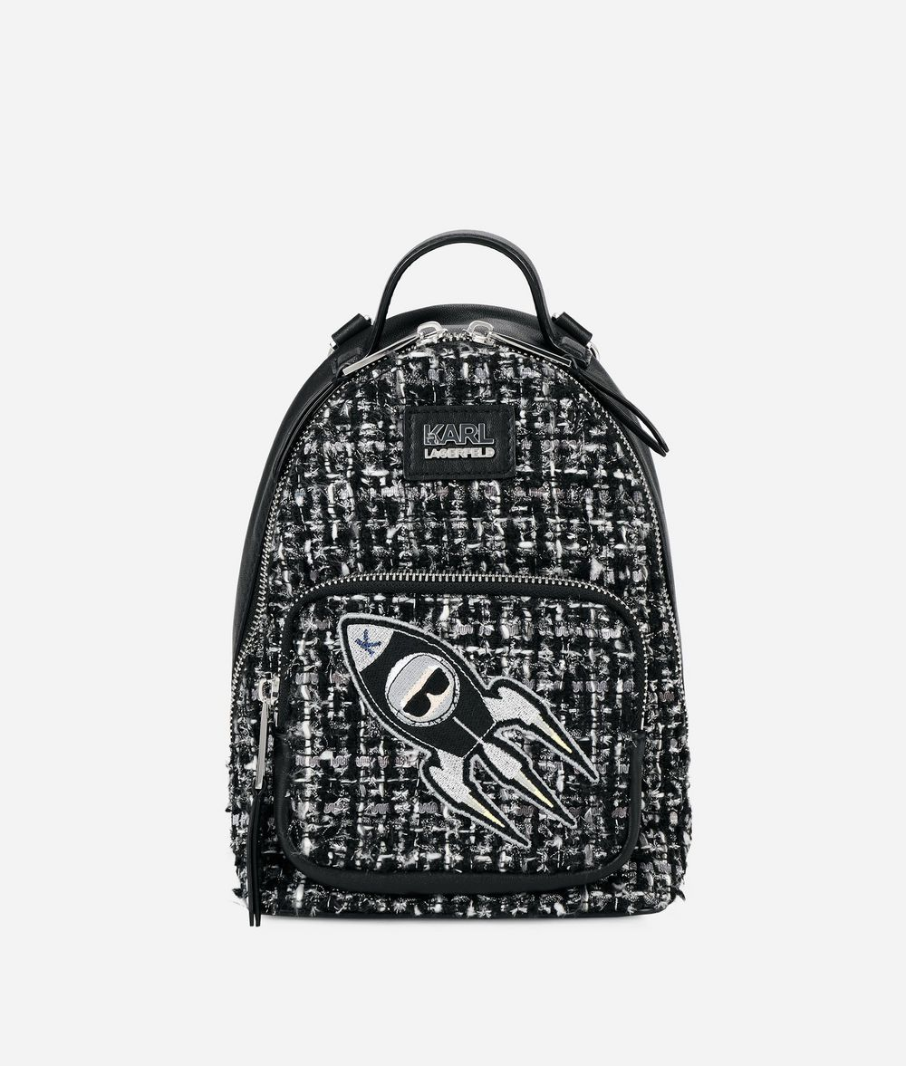 KARL LAGERFELD Karl Space Mini Backpack Backpack Woman f