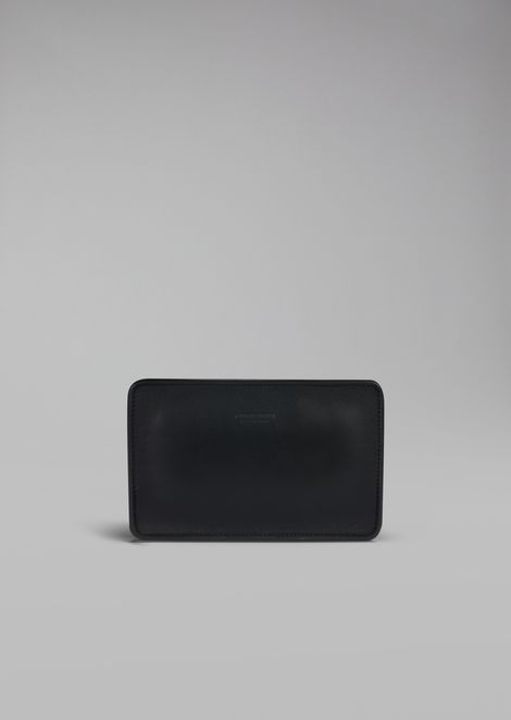 Rigid clutch in smooth calfskin
