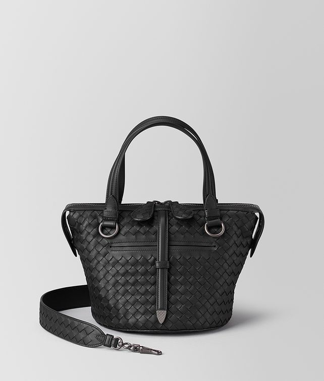BOTTEGA VENETA NERO INTRECCIATO NAPPA TAMBURA BAG  Top Handle Bag Woman fp