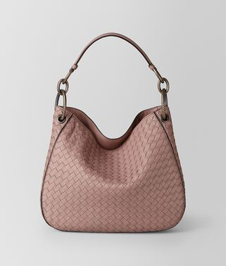 BORSA LOOP IN INTRECCIATO NAPPA DECO ROSE