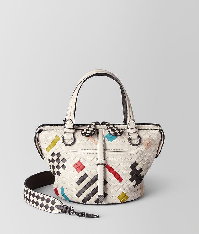 BOTTEGA VENETA MULTICOLOR NAPPA INTRECCIATO ABSTRACT TAMBURA BAG  Top Handle Bag [*** pickupInStoreShipping_info ***] fp