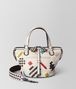 multicolor nappa intrecciato abstract tambura bag  Front Portrait