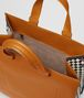 orange calf intrecciato checker tote Back Portrait