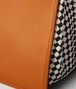 orange calf intrecciato checker tote Back Detail Portrait