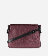 KARL LAGERFELD K/Kat Lock Metallic Leather Crossbody Bag 9_f
