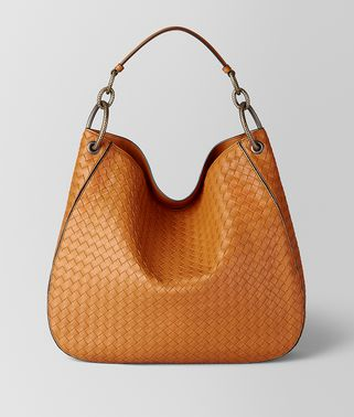 ORANGE INTRECCIATO NAPPA HOBO BAG