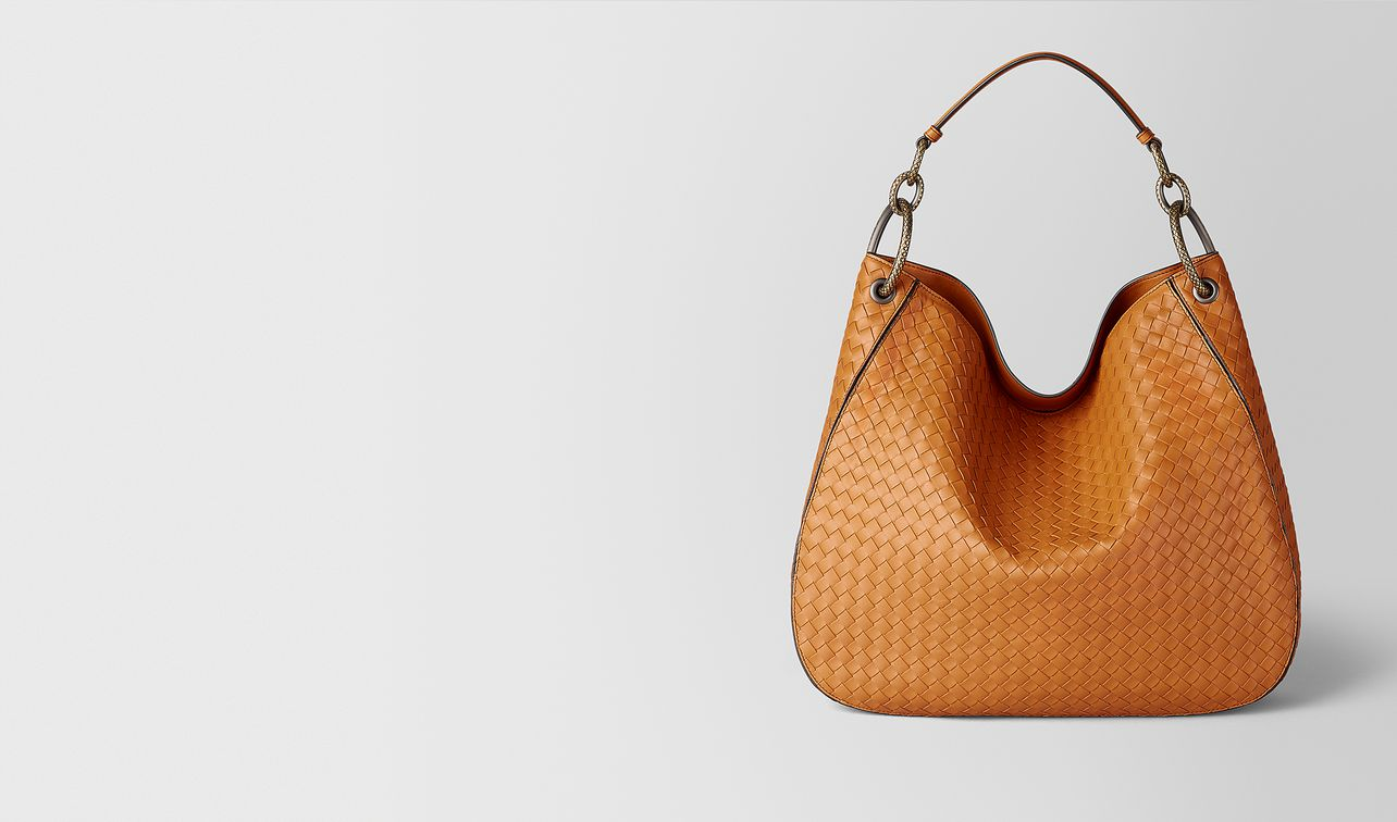 orange intrecciato nappa hobo bag landing