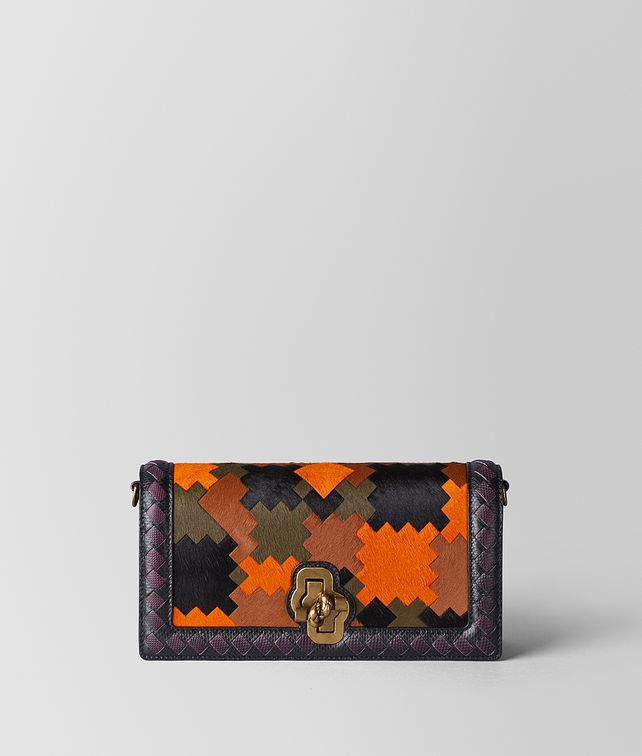 BOTTEGA VENETA MULTICOLOR PONY/KARUNG BV PATCH KNOT CLUTCH Clutch [*** pickupInStoreShipping_info ***] fp
