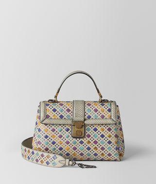 多彩色INTRECCIATO编织彩色玻璃PIAZZA手袋