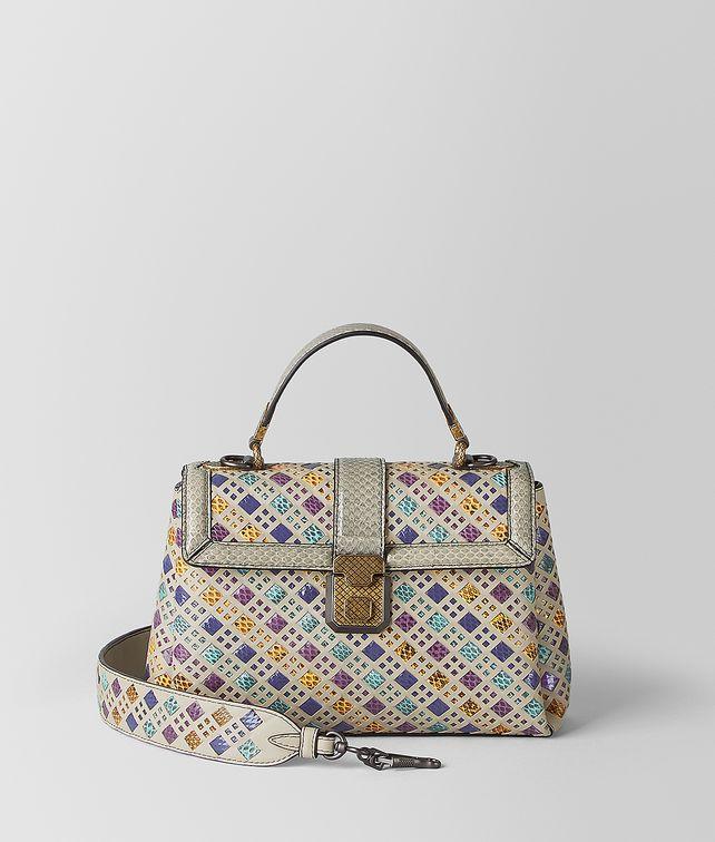 BOTTEGA VENETA MULTICOLOR INTRECCIATO STAINED GLASS PIAZZA BAG Top Handle Bag Woman fp