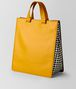 sunset calf intrecciato checker tote Front Portrait