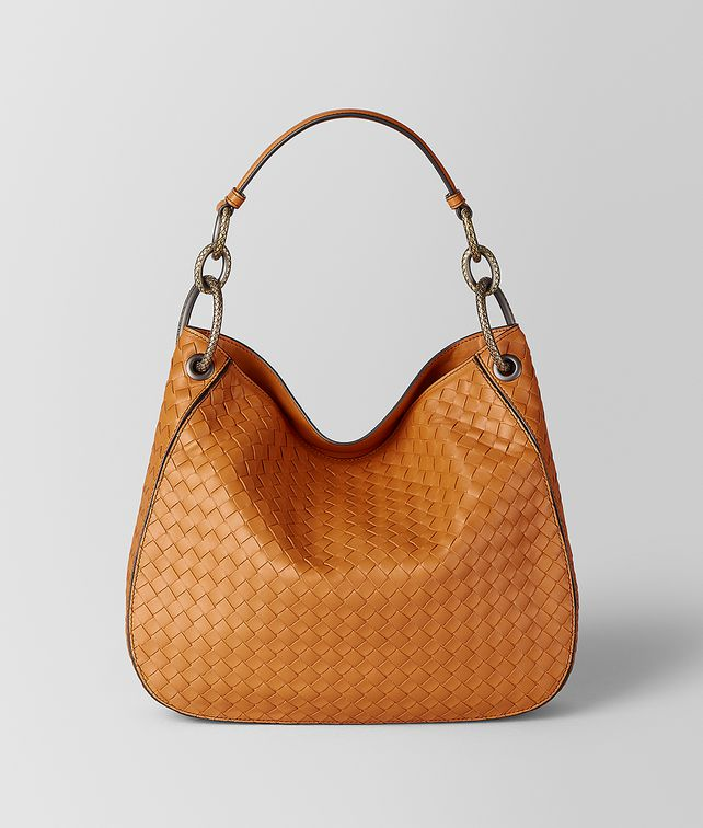 BOTTEGA VENETA SAC LOOP EN CUIR NAPPA INTRECCIATO ORANGE Sac Hobo [*** pickupInStoreShipping_info ***] fp
