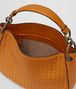 orange intrecciato nappa loop bag Back Portrait