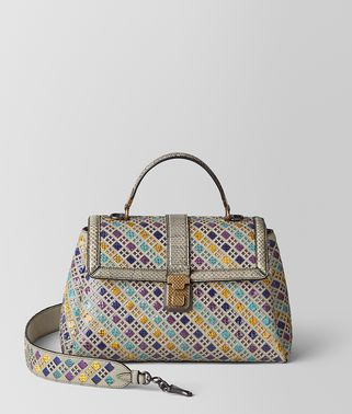 MULTICOLOR INTRECCIATO STAINED GLASS PIAZZA BAG