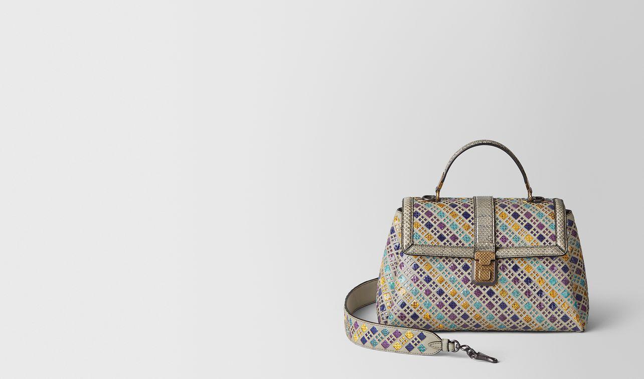 multicolor intrecciato stained glass piazza bag landing