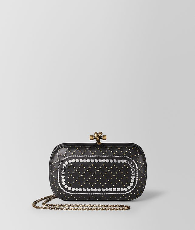 BOTTEGA VENETA NERO NAPPA CATENA CHAIN KNOT Clutch [*** pickupInStoreShipping_info ***] fp