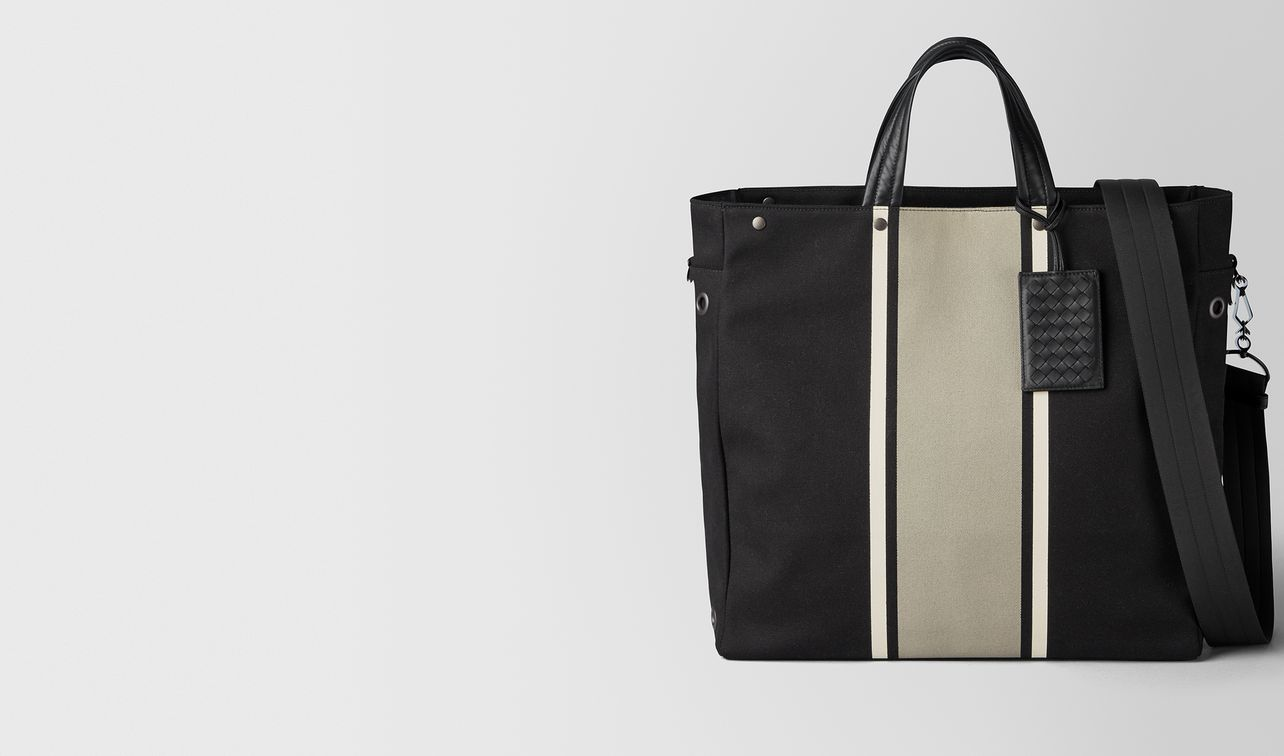 nero/cement canvas tote landing