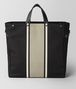 BOTTEGA VENETA NERO/CEMENT CANVAS TOTE Tote Bag Man lp