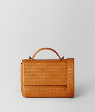 BORSA ALUMNA IN INTRECCIATO NAPPA ORANGE