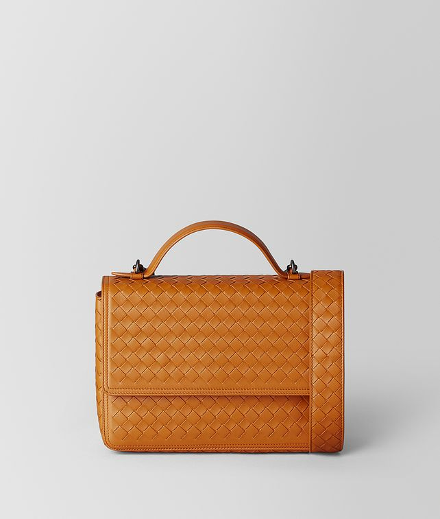 BOTTEGA VENETA ORANGE INTRECCIATO NAPPA ALUMNA BAG Crossbody and Belt Bags [*** pickupInStoreShipping_info ***] fp