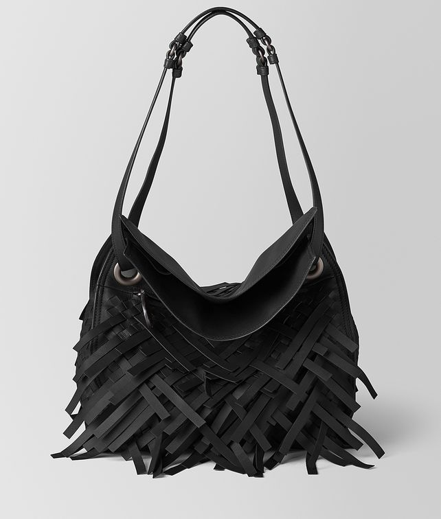 BOTTEGA VENETA NERO INTRECCIATO FRINGE TOTE Tote Bag [*** pickupInStoreShipping_info ***] fp