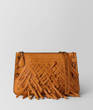 ORANGE PALIO FRINGE MESSENGER BAG