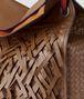 tote con frange in intrecciato dark leather Immagine dettaglio posteriore