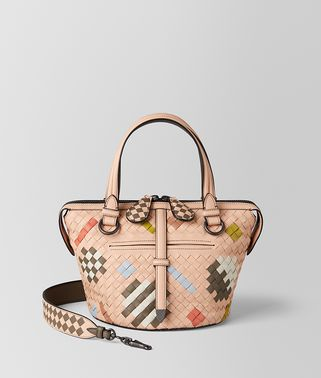 MULTICOLOR NAPPA INTRECCIATO ABSTRACT TAMBURA BAG