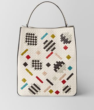 MULTICOLOR INTRECCIATO ABSTRACT FAÇADE TOTE