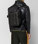 nero/dark leather intrecciato microdots sassolungo backpack Front Detail Portrait