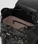 nero/dark leather intrecciato microdots sassolungo backpack Back Portrait