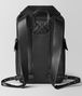 nero/dark leather intrecciato microdots sassolungo backpack Back Detail Portrait